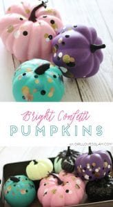 Bright Confetti Pumpkins on www.girllovesglam.com