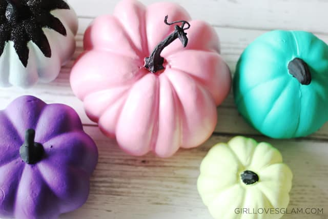 Bright Painted Pumpkins on www.girllovesglam.com
