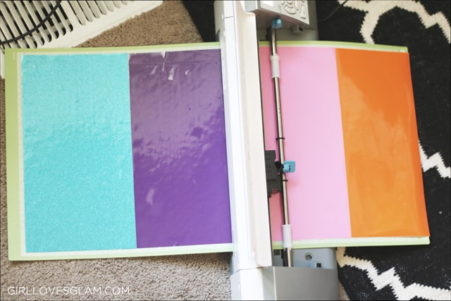 Cutting Multiple Colors of Vinyl at Once on www.girllovesglam.com