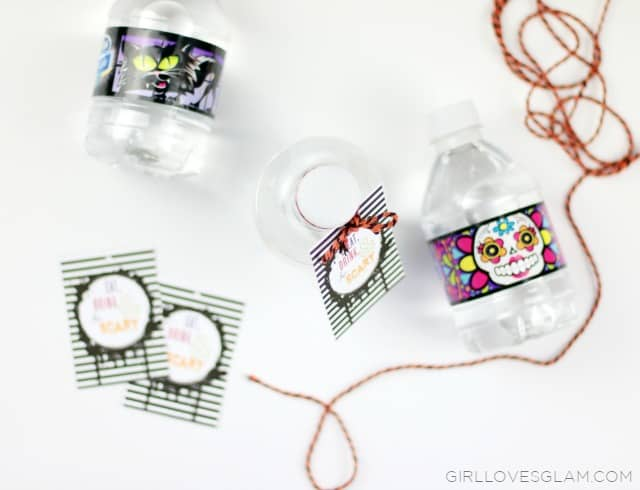 Easy Halloween Drink Tags on www.girllovesglam.com