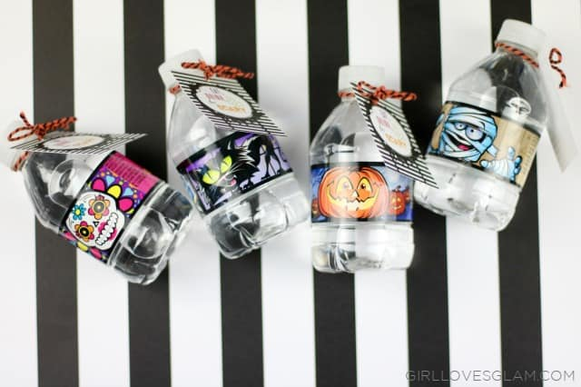 Halloween Water Bottles on www.girllovesglam.com