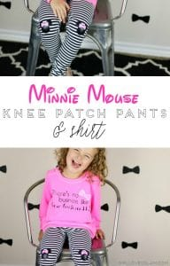 Minnie Mouse Knee Patch and Shirt Tutorial on www.girllovesglam.com