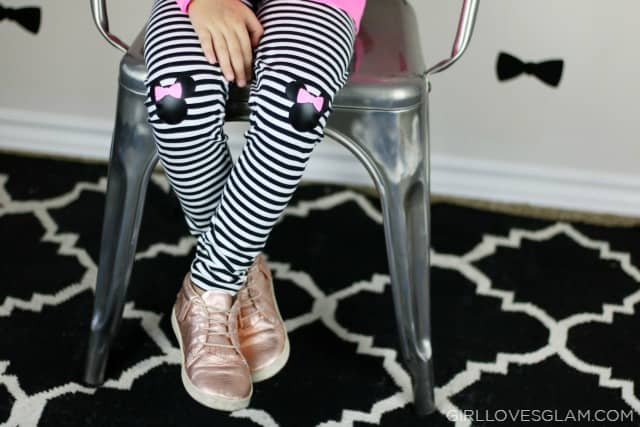 Minnie Mouse Knee Patch Pants on www.girllovesglam.com