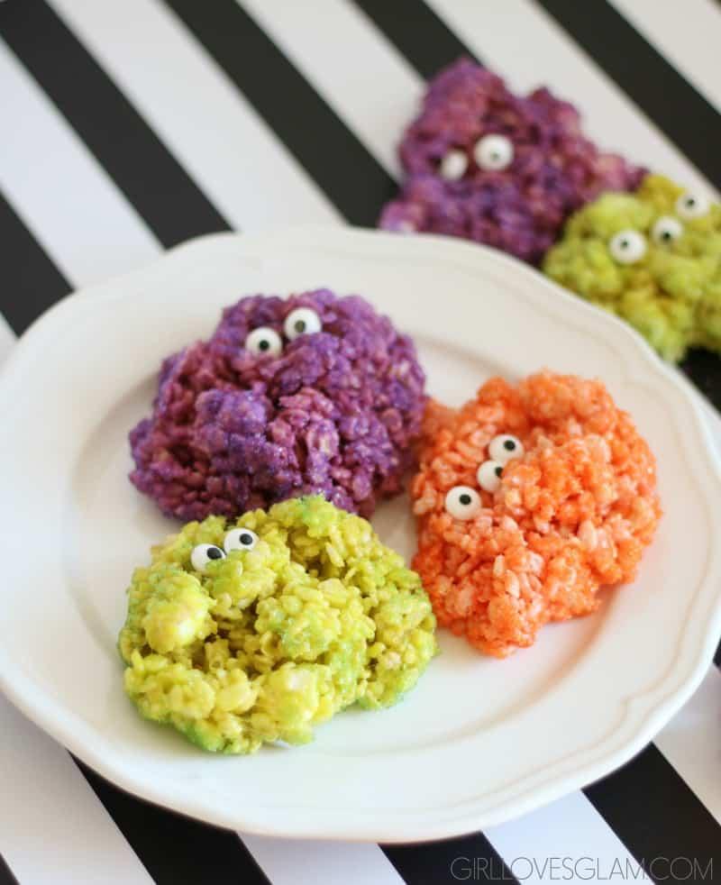 monster rice krispie treats girl loves glam