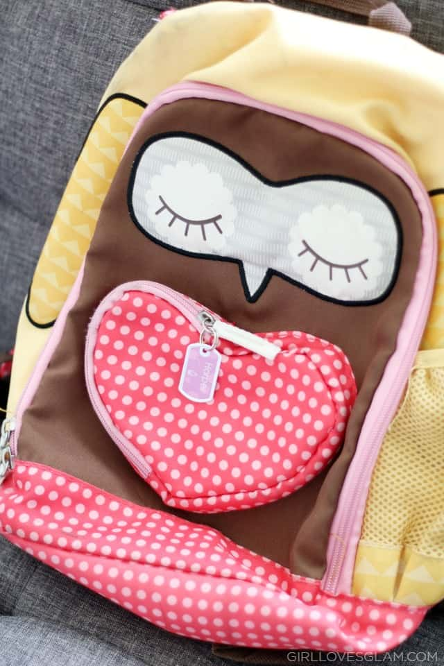 Personalized Tag for Backpack on www.girllovesglam.com