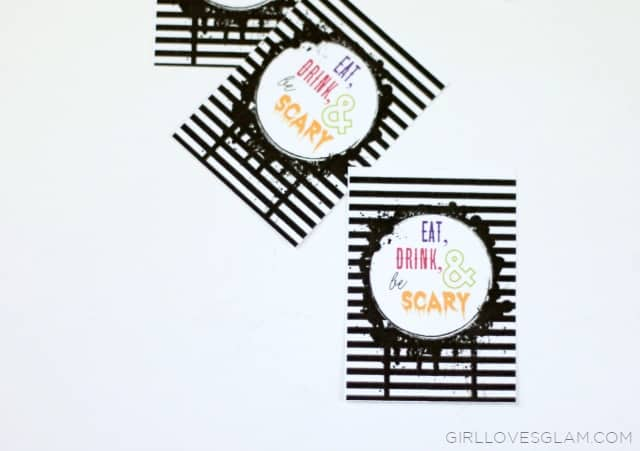 Printable Halloween Tags on www.girllovesglam.com