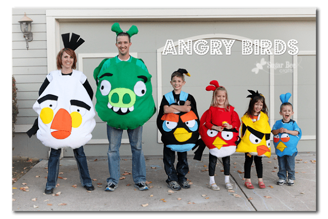 Angry Birds Family Halloween Costume