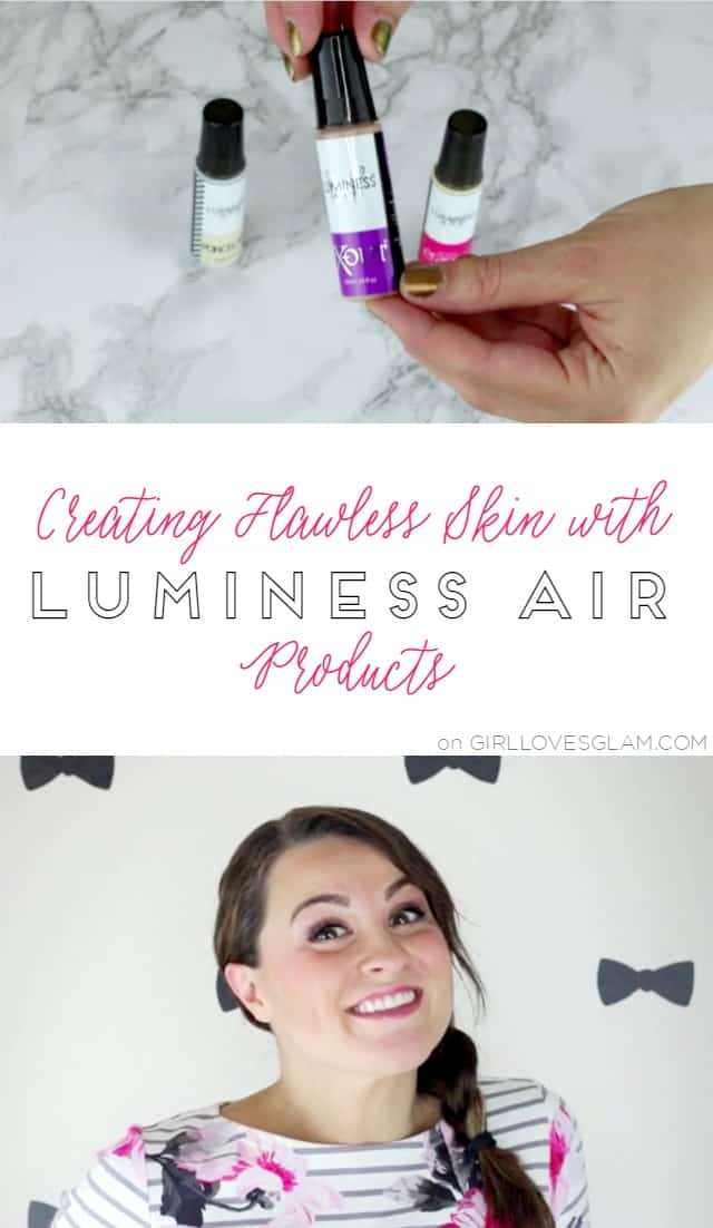 Creating Flawless Skin with Luminess Air Products on www.girllovesglam.com