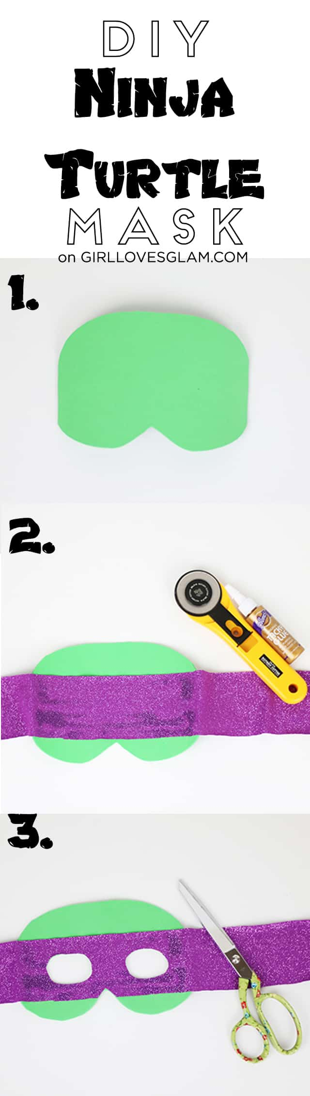 DIY Ninja Turtle Mask on www.girllovesglam.com