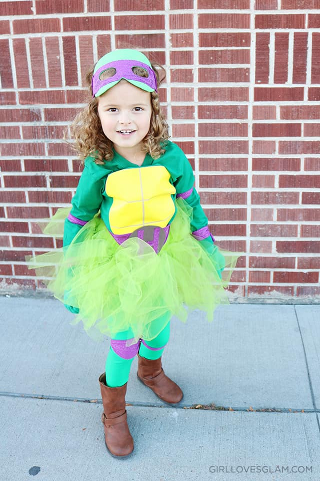 Ninja Turtle Tutu Little Girl Costume on www.girllovesglam.com