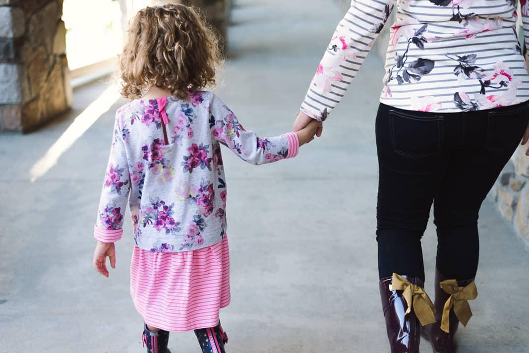 Floral and Stripe Girl Dress on www.girllovesglam.com