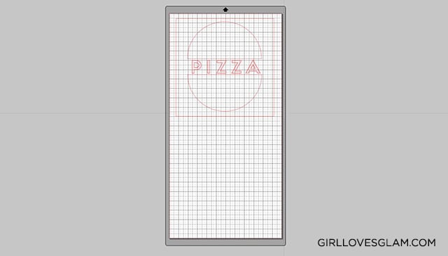 Pizza Box Design on Silhouette Studio on www.girllovesglam.com