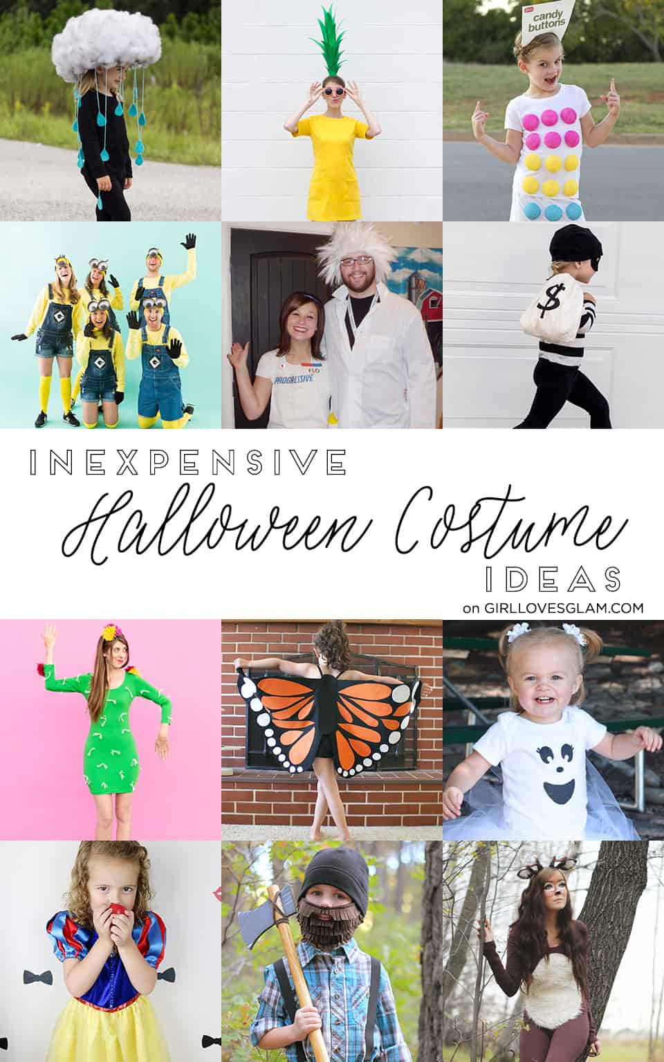 Inexpensive Halloween Costume Ideas on www.girllovesglam.com