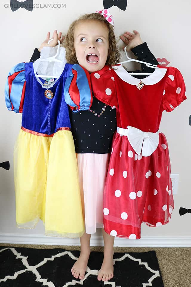 Minnie and Snow White Second Hand Costumes on www.girllovesglam.com
