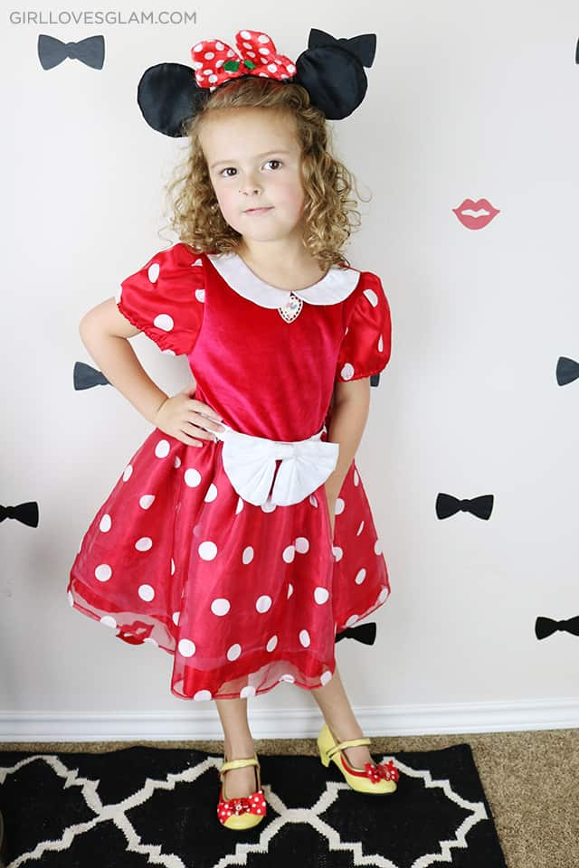 Minnie Mouse DI Inexpensive Costume on www.girllovesglam.com