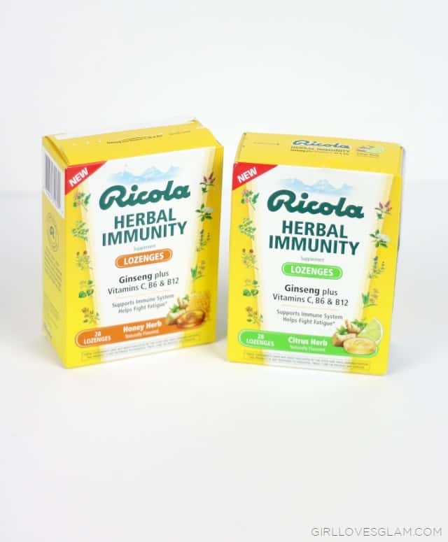 Ricola Herbal Immunity Lozenges on www.girllovesglam.com