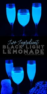 Two Ingredient Black Light Lemonade on www.girllovesglam.com