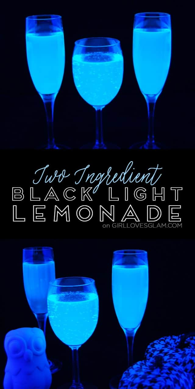 Two Ingredient Black Light Lemonade on www.girllovesglam.com