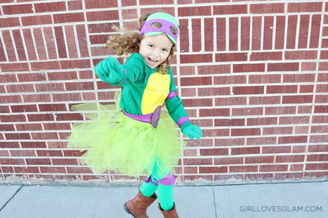 Easy Ninja Turtle Costume on www.girllovesglam.com