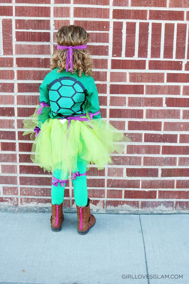 Little Girl Ninja Turtle costume on www.girllovesglam.com