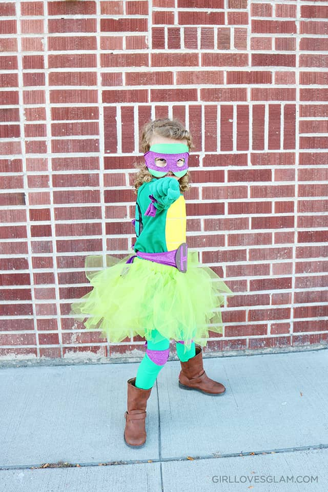 Little Girl Ninja Turtle Tutu Costume on www.girllovesglam.com