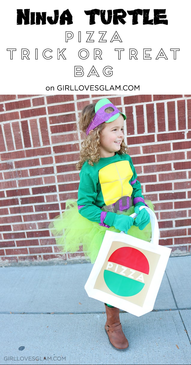 Ninja Turtle Pizza Trick or Treat Bag on www.girllovesglam.com