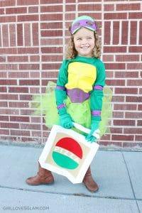 Pizza Bag for Ninja Turtle Costume on www.girllovesglam.com