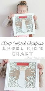 Christ Centered Christmas Angel Kids Craft on www.girllovesglam.com