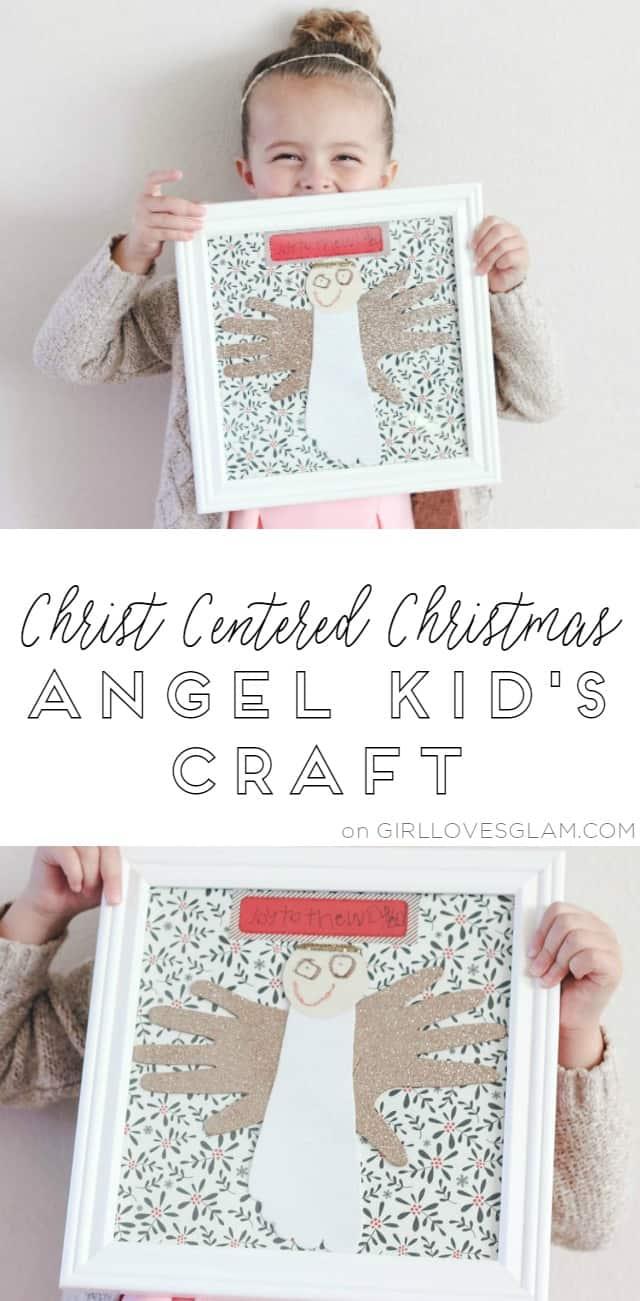 Christ Centered Christmas Angel Kids Craft on www.girllovesglam.com