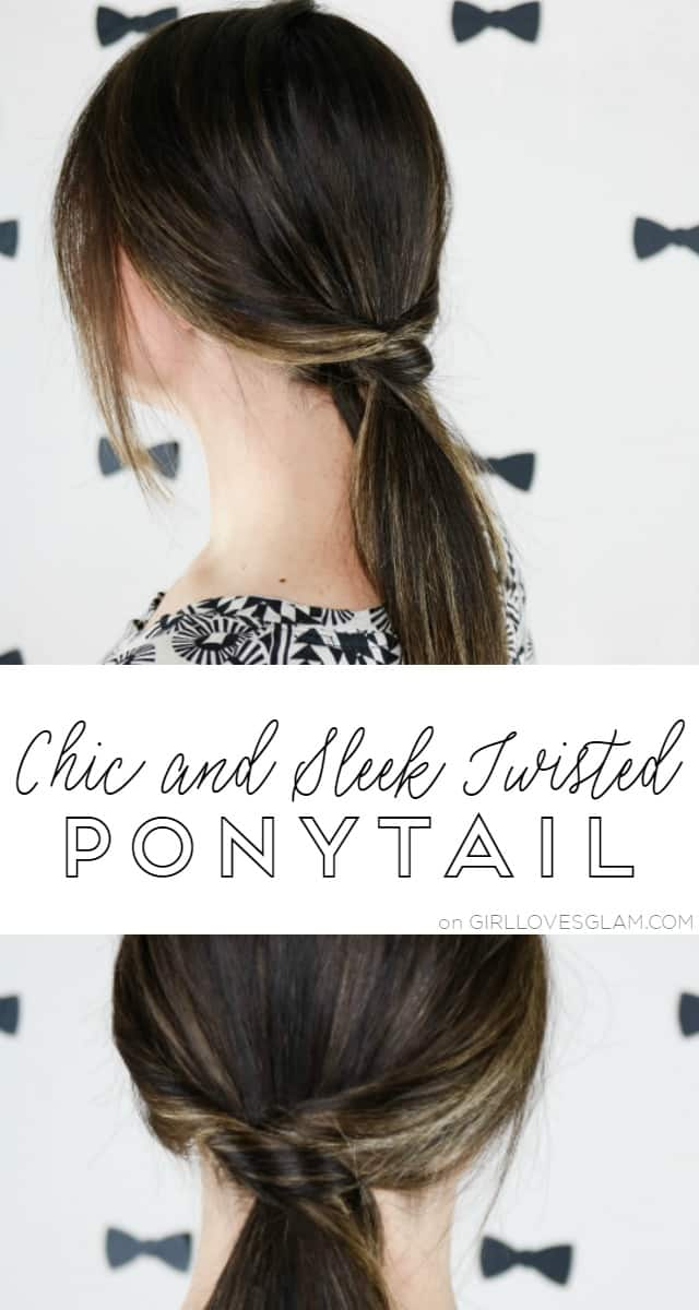 Chic and Sleek Twisted Ponytail on www.girllovesglam.com