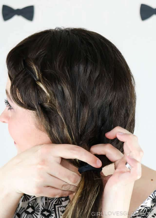 Festive messy braid hairstyle on www.girllovesglam.com