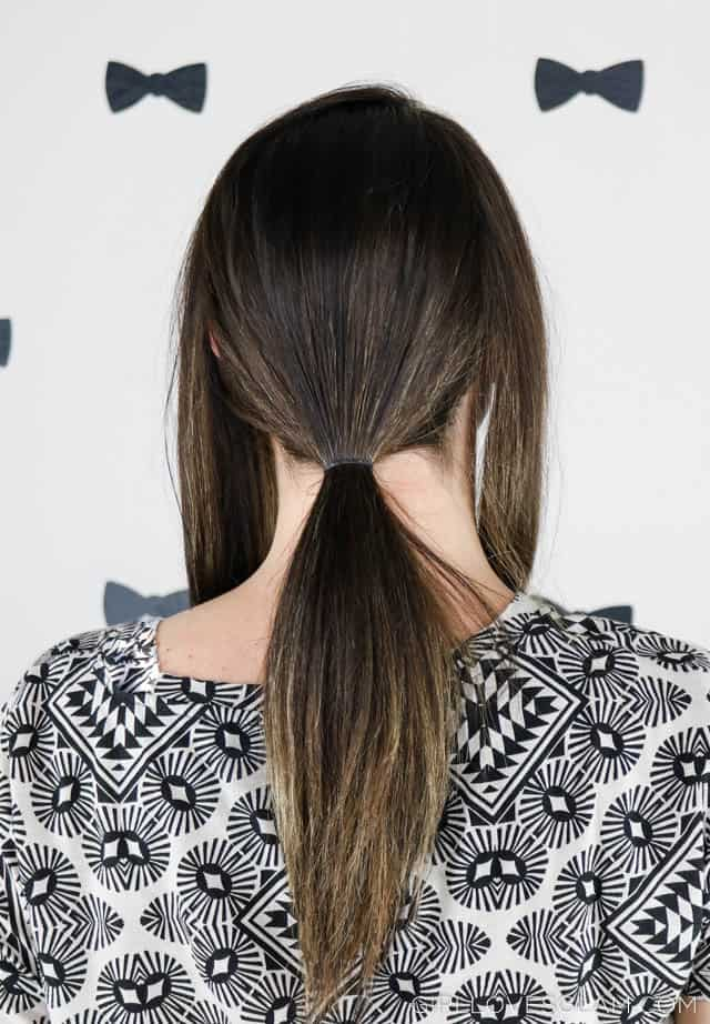 Creating a chic low ponytail on www.girllovesglam.com