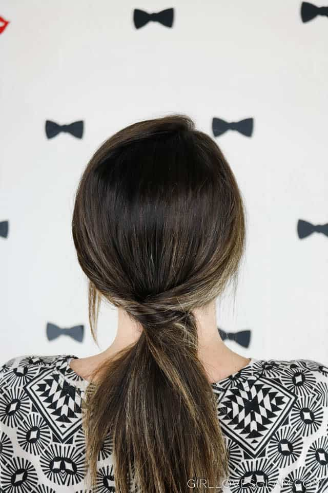 Low Chic Ponytail on www.girllovesglam.com