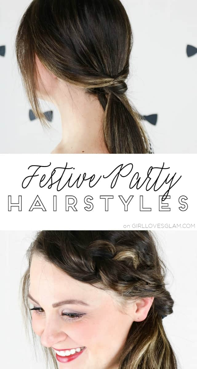 Festive Party Hairstyles on www.girllovesglam.com