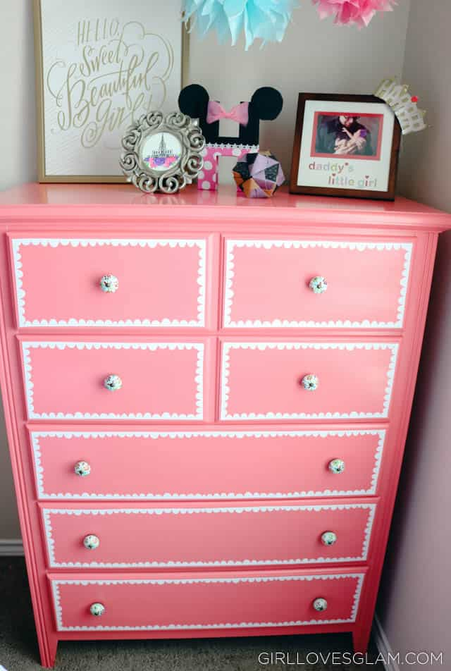 Dresser with Scallop Vinyl on www.girllovesglam.com