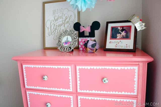 Pink Scallop Dresser Refinish on www.girllovesglam.com