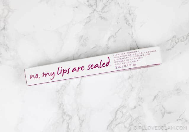 Know Cosmetics No My Lips are Sealed on www.girllovesglam.com