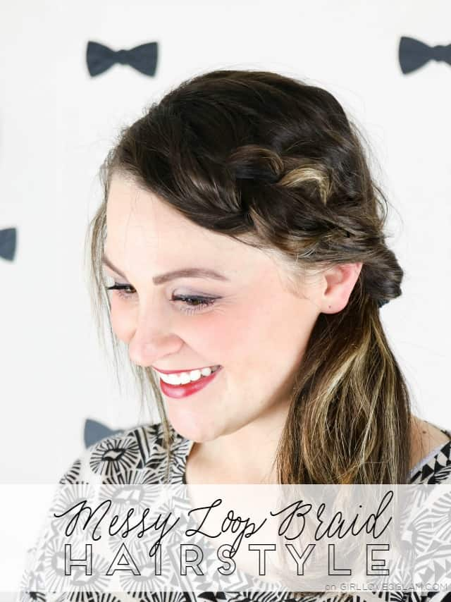 Messy Loop Braid Hairstyle Tutorial on www.girlloveglam.com