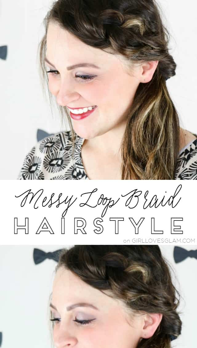 Messy Loop Braid Hairstyle on www.girllovesglam.com