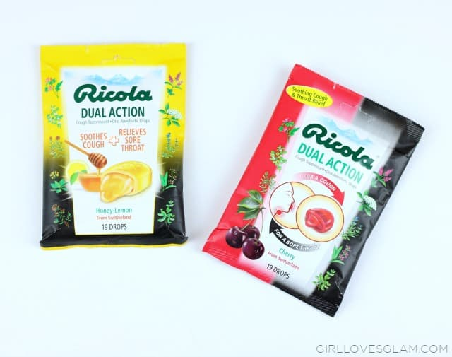 Ricola Dual Action in Honey Lemon and Cherry on www.girlloveglam.com #swissherbs