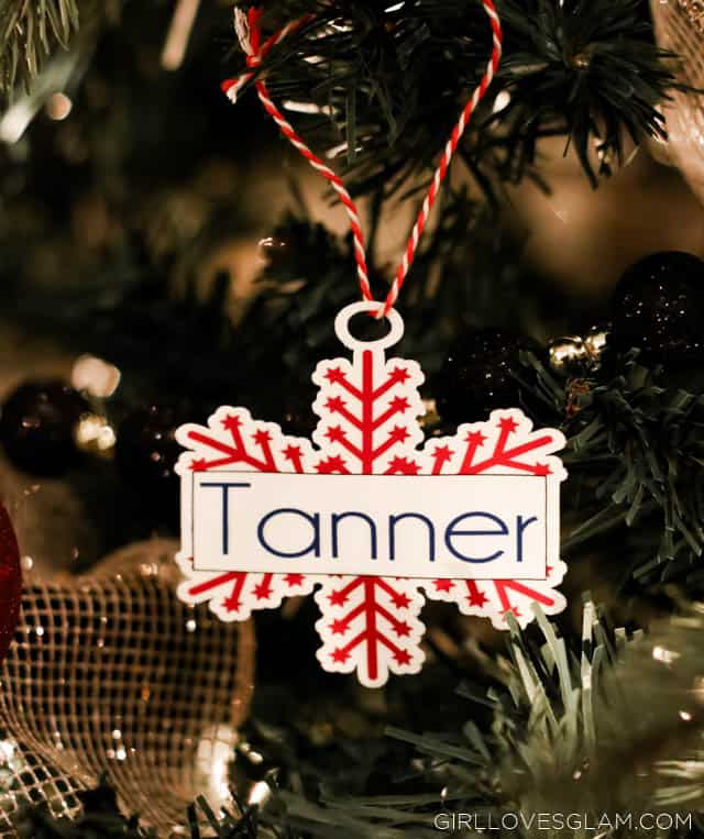 Easy and inexpensive ornament gift idea on www.girllovesglam.com