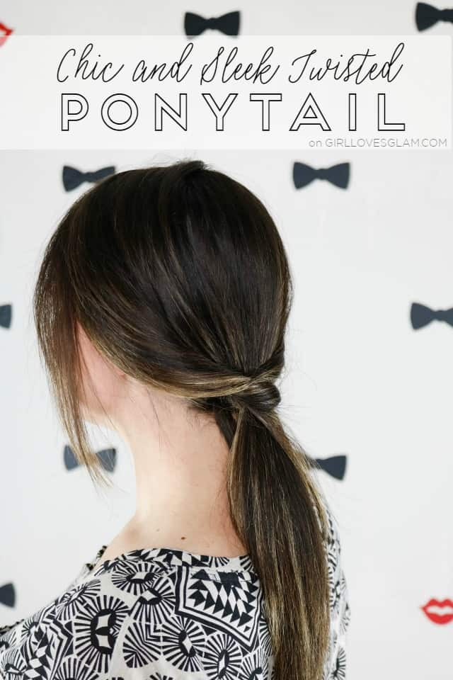 Sleek Twisted Ponytail Hairstyle on www.girllovesglam.com
