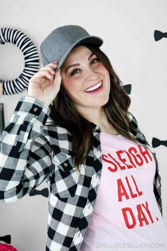 Sleigh All Day festive tee on www.girllovesglam.com