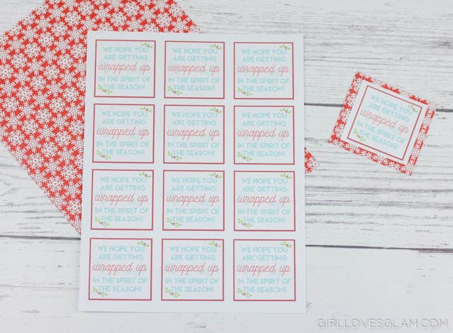 Wrapping Paper Neighbor Gift Printable Tags on www.girllovesglam.com
