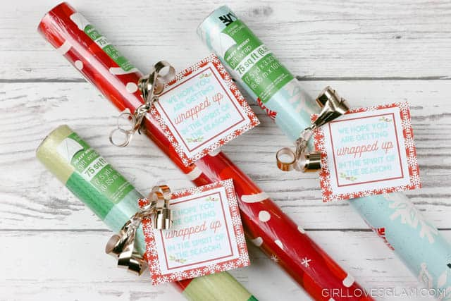 Neighbor Gift Idea with Wrapping Paper on www.girllovesglam.com