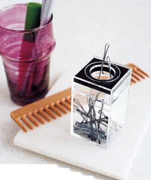 Bobby Pin Paper Clip Dispenser on www.girllovesglam.com