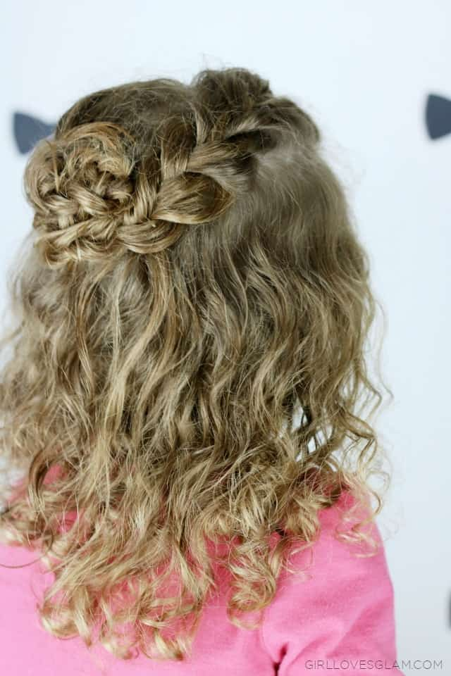 Braid Flower Hair Tutorial for Little Girl Hair on www.girllovesglam.com