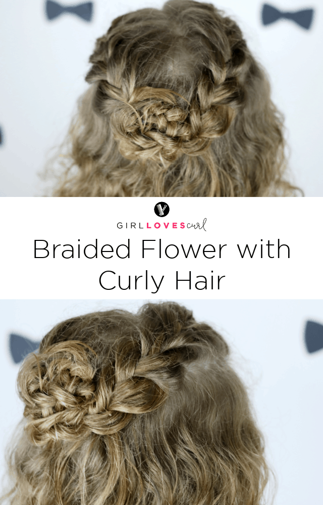 Braided Flower with Curly Hair