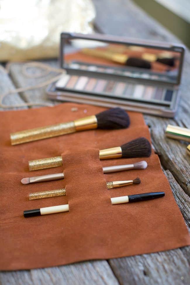 DIY Makeup Brush Travel Case on www.girllovesglam.com