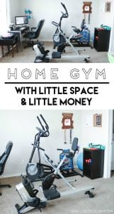 Home Gym with Little Space and Little Money on www.girllovesglam.com